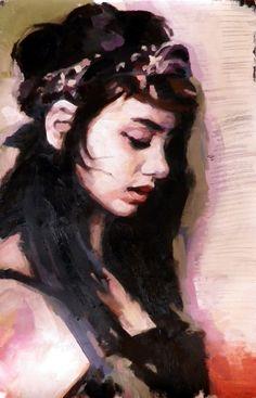 thomas saliot; Oil, Painting Cheyenne