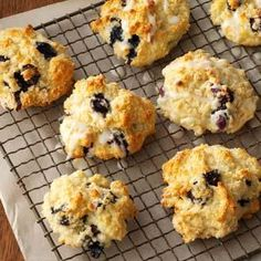 Lemon Blueberry Biscuits Recipe from Taste of Home