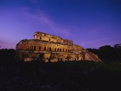 A View of the Ancient Mayan Ruins of Uxmal