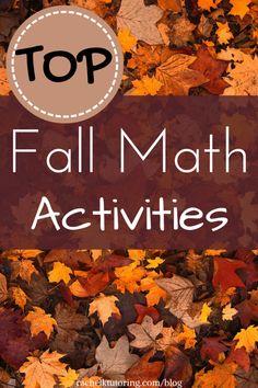 Top Fall Math Activities | Rachel K Tutoring Blog