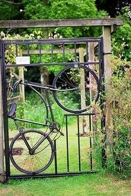 Creative garden gate (designed by Two Women and a Hoe)