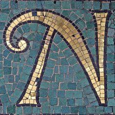 letter, mosaic