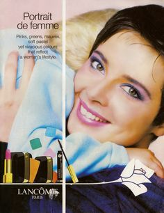 ISABELLA ROSSELLINI FOR  LANCOME PARIS ADVETIDMENT 1988
