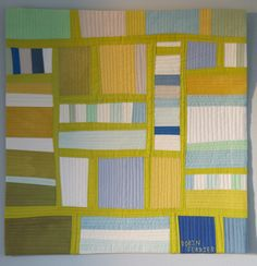 """A Simple Quilt"" by Robin Ferrier  Love these colors!"