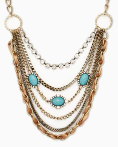 Mixed Material World Necklace #charmingcharlie #ccstyle