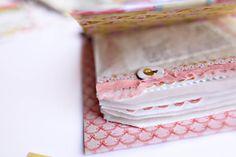 A mini book made using white glassine bags by Elizabeth Kartchner. Lovely!