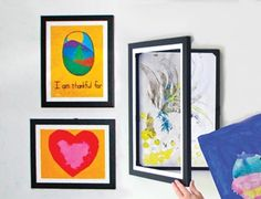 Picture frames that let you easily change which kids' artwork you display (+store up to 50 pieces of art).