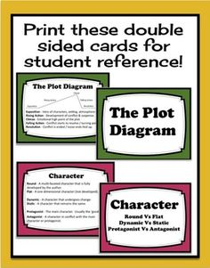 LITERARY TERMS REVIEW CARDS & QUIZ (SETTING, PLOT, CONFLICT, THEME & MORE!) - TeachersPayTeachers.com Use for station work or early finisher/additional practice bin somehow?