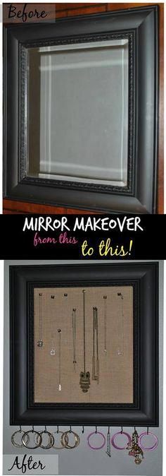 DIY Mirror Makeover – From Drab to Fab #DIY #upcycle #recreate