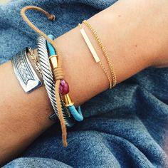 @Colby Milano wearing her #balance necklace as a bracelet #2for1 #SummerJewels   #dogeared #bracelet