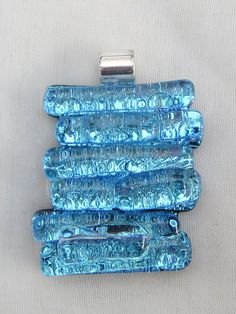 Fused glass pendant  Fused glass dichroic by FoxWorksStudio