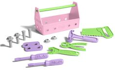 Tool set made of recycled plastic from Green Toys. Awesome.