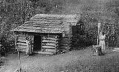 This photo taken in North Carolina in 1888, shows a Cherokee cabin that is very representative of the homes in this region during the 19th century. The United States federal government forced about 16,000 Cherokee and hundreds of other Native Americans to abandon their land in NC, GA, Tenn, & AL and move to OK in the late 1830's. Brett Riggs, an archaeologist at the University of NC, is uncovering the remains of farms and homes in the mountains of NC, that the Cherokee left behind.