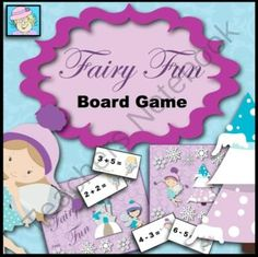 Fairy Fun Board Game: Addition, Subtraction, Multiplication, and Editable Cards!   from TeacherTam on TeachersNotebook.com -  (13 pages)  - Your students can practice math facts--or any material--with this fun, fairy-themed game.  This game comes with addition, subtraction, multiplication, and EDITABLE cards!  $