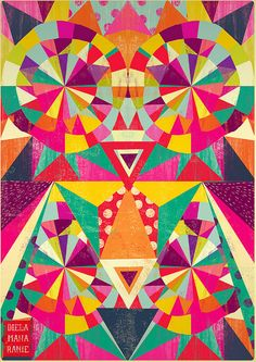 Diela Maharanie - Bright and colorful pattern