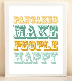 Pancakes print from Etsy