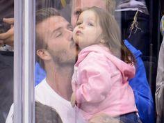 David Beckham caught on Kiss Cam with daughter Harper