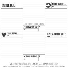 Good Life Journal Cards 6 {CU}