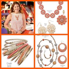 Shades of peach, tangerine, melon, and coral are still on trend this spring!