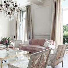 living room in muted tones