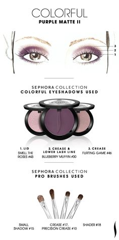 COLORFUL: Purple Matte 2 HOW TO #sephoracollection #sephora #eyeshadow #makeup