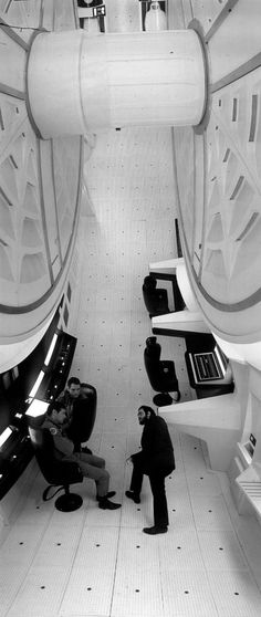 On the set of 2001: A Space Odyssey.