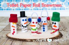 How-to Craft Toilet Paper Roll Snowmen