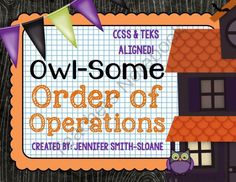 FREEBIE Owl-Some Order of Operations Match-Up (with powers) from 4mulaFun on TeachersNotebook.com (7 pages)  - FREEBIE Owl-Some Order of Operations Match-Up (with powers)
