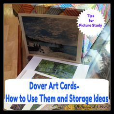 Dover Art Cards - Using them for picture study and storage ideas from Harmony Art Mom.