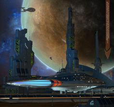 Departure from Starbase 304 by Rob-Caswell