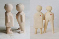wood figurin, favourit thing, woodi wood, furnitur librari