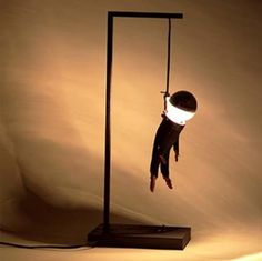 Lamp with a death wish