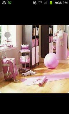 Pink home gym