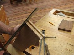 Sawing out the full blind dovetails