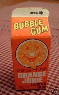 orange juice bubble gum