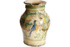 "Vintage Clay Pitcher   Gilles Mendel  7""H  ($650.00)   X449.00)  OneKingsLane.com vintag clay, clay pitcher"