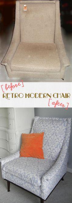 Retro modern chair rehab! Amazing!