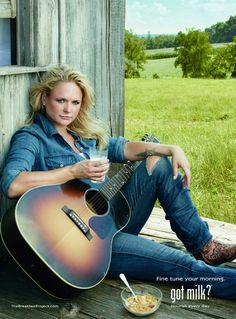 Miranda Lambert Dons a Milk Mustache for Got Milk.