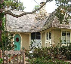 the doors, door colors, cottage look, fairy tales, exterior colors, cottages, hous, dream cottage, cottage homes