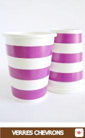 Gobelets en carton à rayures rayé violet pour #halloween