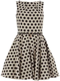 polka dot dress from dorothy perkins. adorable.