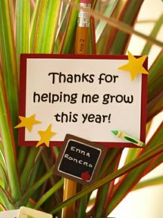 kid's thank you letter plant, teacher gifts, school, gift ideas, diy gift, teacher appreciation gifts, handmade gifts, hand made, kid