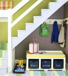 perfect storage-for a house without a mudroom.