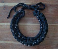 hilariafina, necklac recycl, crochet necklace, crochethol, necklaces, jewelri, diy, yarn, crochet accessori