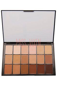 Ben Nye Professional Makeup Media Pro HD 18 Color Diverse Foundation Palette Kit