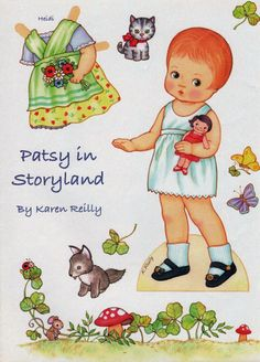 Pretty Paper Doll: Her name is Patsy. Also a Nancy Ann paper doll and another page of Patsy clothes