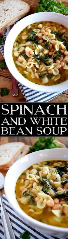 Spinach and White Be