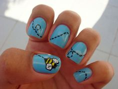 simple bumble bee nails...buzz, buzz
