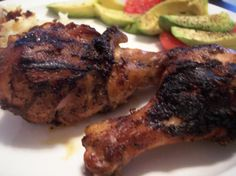 Simple Caribbean Jerk Chicken from Food.com:   								I like jerk chicken but often don't have all the exotic ingredients. This simplifies the mix by using dry italian dressing. Yummy on the Grill!