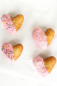 Delicious heart-shaped donut recipe.